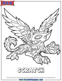 skylanders dragon coloring page images
