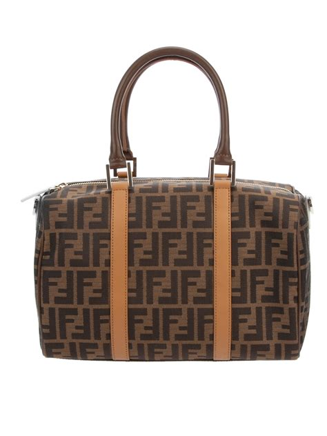 lyst fendi monogram bag  brown