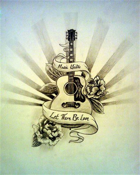 acoustic guitar tattoos best 25 guitar ideas on guitar drawing