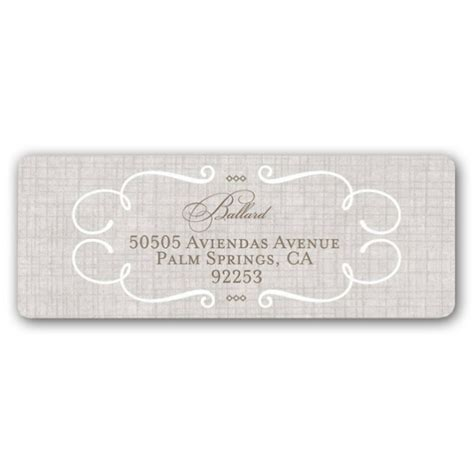 wedding address labels lovely linen wedding return address labels paperstyle