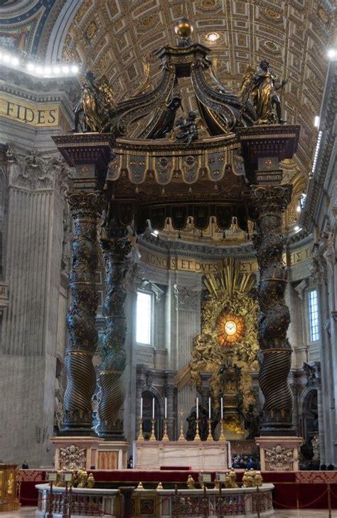 Il Baldacchino Di San Pietro Basilica Di San Pietro Baldacchino Di Bernini Places I