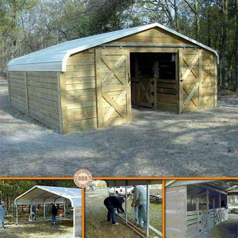 Build A Carport Cheap Diy Carport Into A Barn Barns Diy Carport