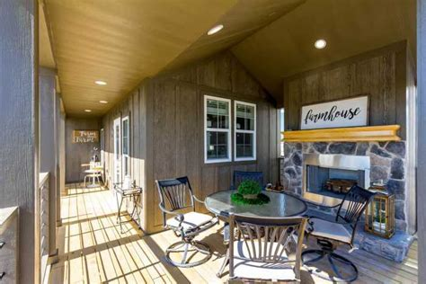 Wrap Around Covered Porch Model with Wood Burning