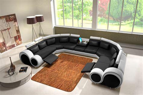 jvmoebel ledersofa sofa ecksofa modell berlin iv u - Wohnzimmergarnitur U Form
