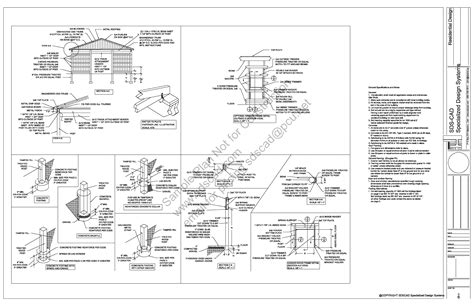 Free Pole Barn Plans Blueprints | free sle pole barn shed plan download g398 12 x 36