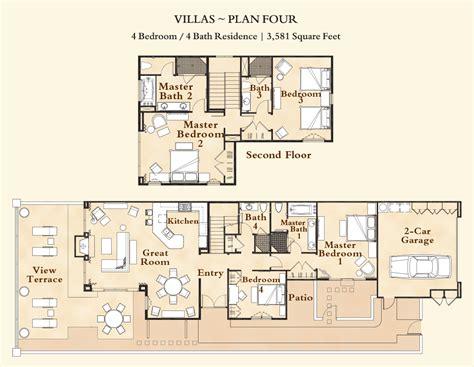 2 story villa floor plans 4 bedroom 2 story luxury pelican hill villa in newport