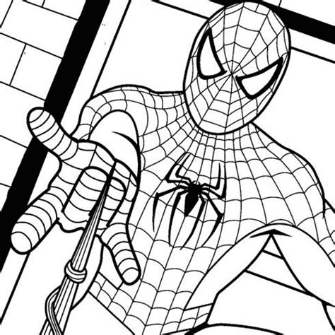 interactive magazine coloring pictures of spiderman