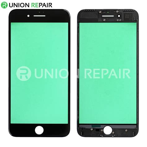 replacement for iphone 7 plus front glass with cold pressed frame black