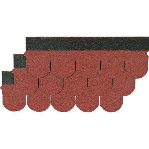Dachpappe Mit Ziegeloptik by Biberschindel Rot 2 M 178 Bitumen Bauhaus