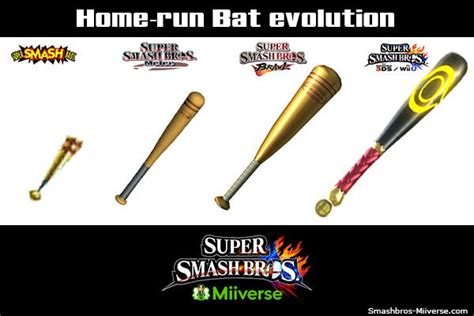 check out the evolution of the home run bat in smash