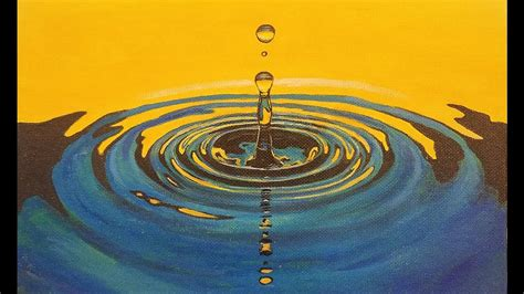 free painting guide learn to paint water drop ripples live acrylic step by