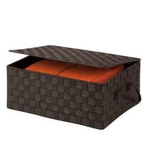 Decorative storage boxes with lids boxes bins baskets amp buckets