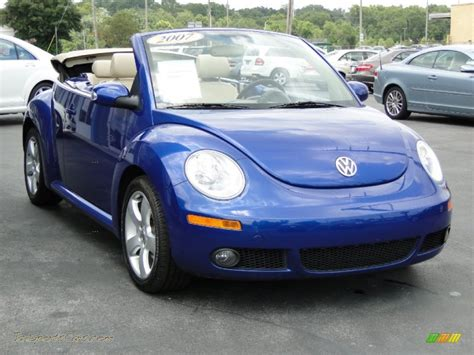 blue volkswagen convertible 2007 volkswagen new beetle 2 5 convertible in shadow blue
