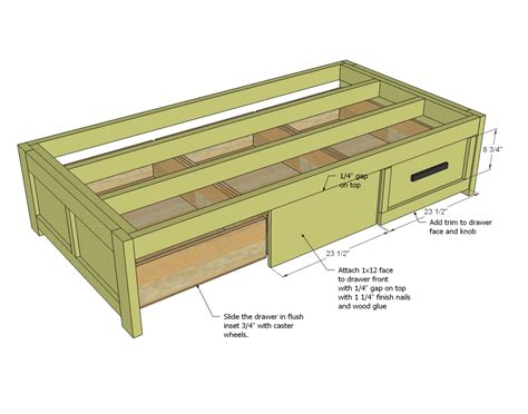 Diy Platform Queen Bed With Drawers Quick Woodworking A Bed Frame With Drawers