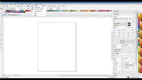 tutorial of corel draw 12 in pdf coreldraw x7 bleed pdf tutorial youtube