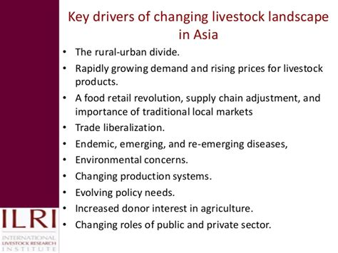 the agriculture manifesto ten key drivers that will shape agriculture in the next decade books pro poor issues for livestock and some lessons for