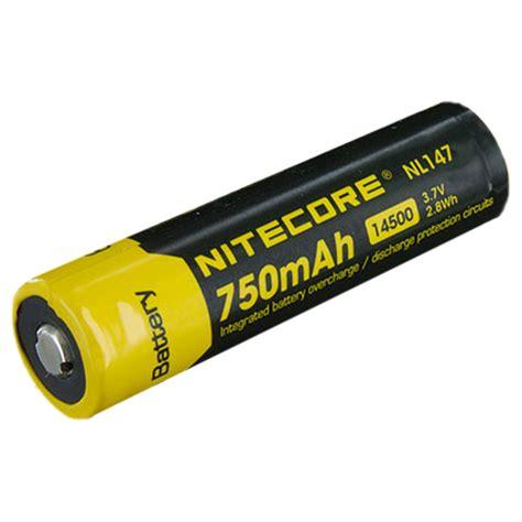 Batre 3 7 V Li Ion nitecore 14500 3 7 v 750 mah li ion protected battery