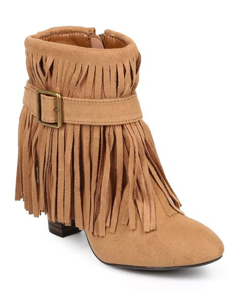 Flat Shoes Travel Camel Classic Original Brand shoes qupid db41 suede almond toe belted fringe