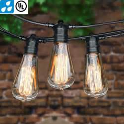 Edison Patio Lights 25 48 75 Foot Vintage Patio String Lights E26 Edison