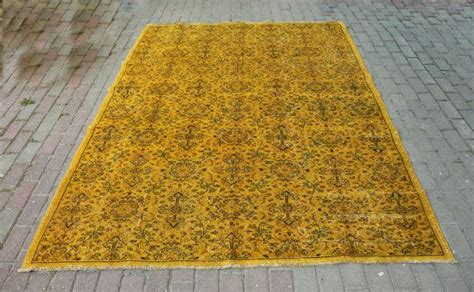 mustard yellow rug 74 x 100 turkish vintage carpets mustard yellow rug handwoven rugs an