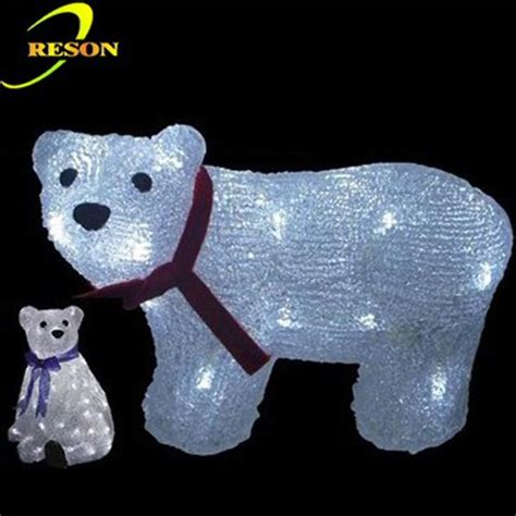 3d led light polar bear christmas outdoor lighted