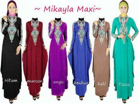 Gamis Set Batik Lunan Go harga baju muslim wanita murah kata kata sms