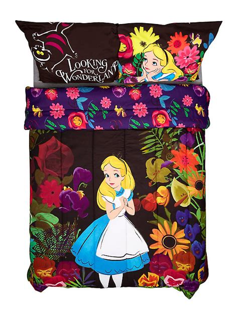 alice in wonderland bed set disney alice in wonderland alice in forest full queen