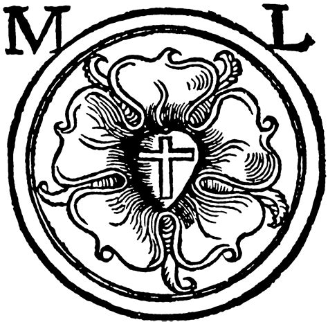 luther rose coloring page free coloring pages