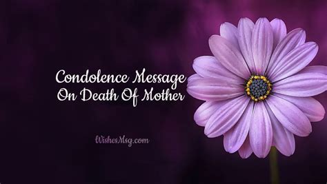 Condolence Messages on Death of Mother   Sympathy Quotes