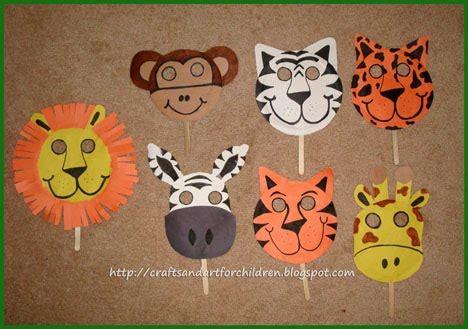 handmade animal masks~ make your own! artsy momma
