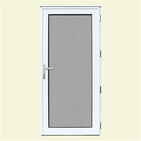 Security Door Glass Unique Home Designs 36 In X 80 In White Recessed Mount Right Meshtec Ultimate Door