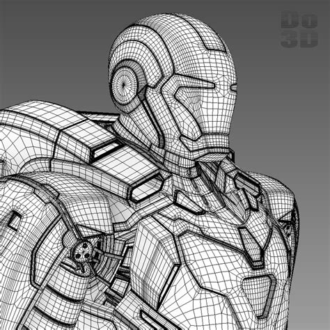 Iron 39 Gemini Papercraft iron 3 suit 39 gemini armor 3d model max obj