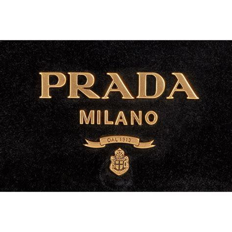 Prada Croc Logo Clutch by Prada Logo Velvet Clutch Black Prada Handbags Jomashop