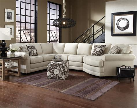 England brantley 5 seat sectional sofa with cuddler dunk amp bright furniture sectional sofas