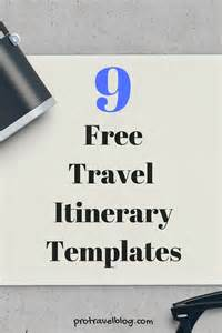 Free Travel Templates by 9 Useful Travel Itinerary Templates That Are 100 Free