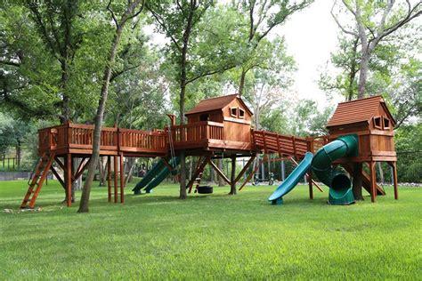 blog swing bridged wooden swing sets backyard fun factory