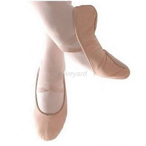 child canvas ballet shoes slippers pointe