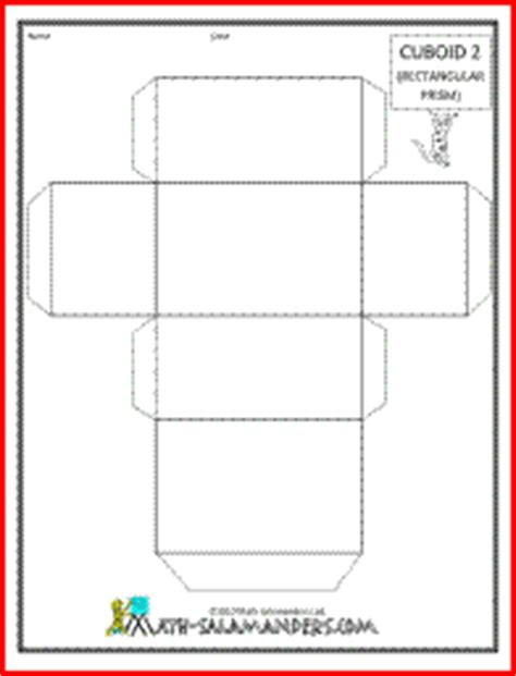 cuboid net template printable cuboid 2 a printable net for a cuboid available with or