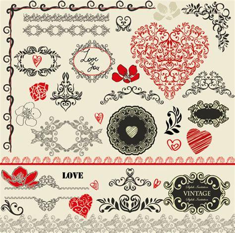 adobe illustrator create border pattern valentine day decorative frames and borders vector free
