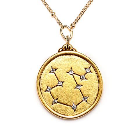 aquarius constellation necklace sequin