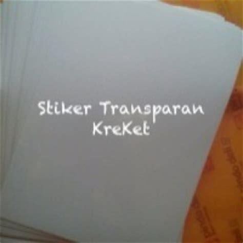 Plastik Stiker Plastik Stiker Transparan A4 jual kertas stiker transparan 21x29 7cm kreatifitas