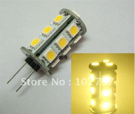 led diode auto g4 gu 5 3 18smd 5050 led diode dc 12v 2 2w l light bulb rv marine warm white white home car