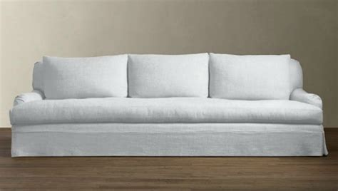 restoration hardware replacement slipcovers 10 easy pieces the perfect white sofa by