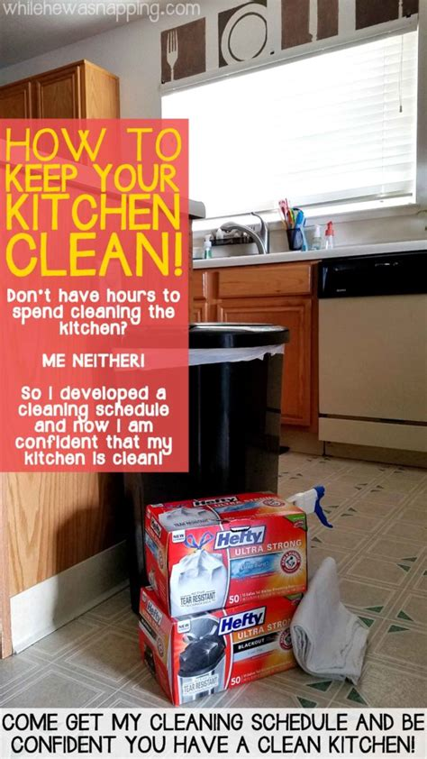 how to keep your kitchen clean how to keep your kitchen clean while he was napping