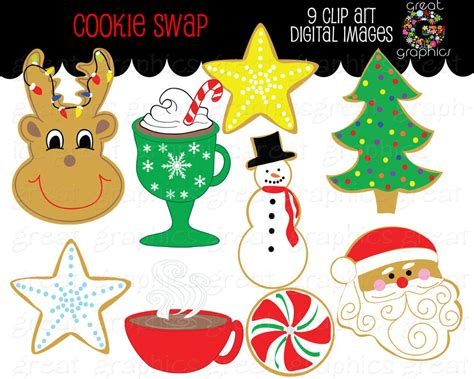 printable christmas party decorations christmas clip art christmas cookie swap clipart printable