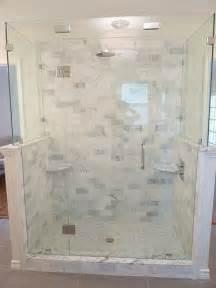 renovation master bathroom marble frameless