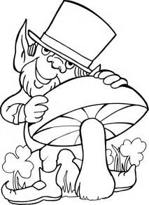 leprechaun coloring pages to print digger st s day