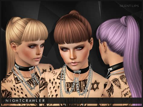the sims 2 downloads fringe hairstyles nightcrawler sims nightcrawler silent lips
