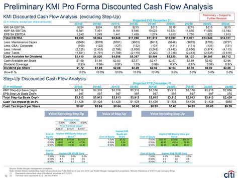 pro forma cash flow projection c shareholder analysis