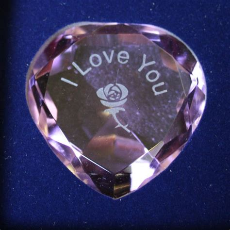 Alternative Valentines Gifts i love you purple rose star crystal heart